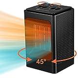 Heizlüfter Heizung Elektrisch,1500W/750W Heizlüfter Energiesparend mit Überhitzungsschutz,Kleine...
